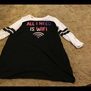 No Boundaries Black and White Sleep Shirt/Dress